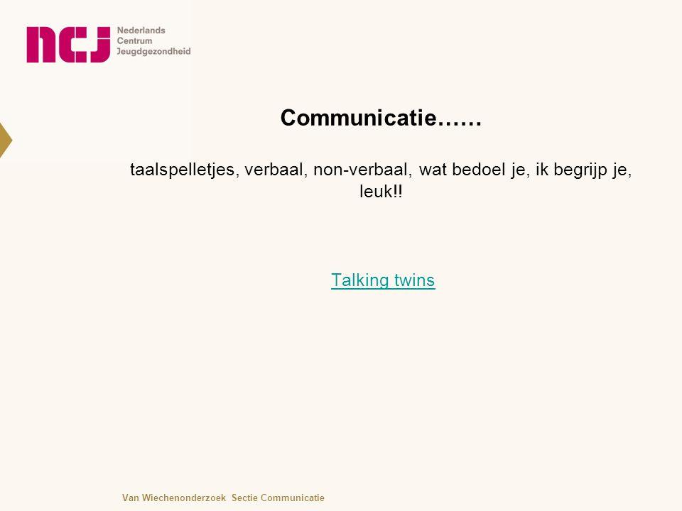 Communicatie…… taalspelletjes, verbaal, non-verbaal, wat bedoel je, ik begrijp je, leuk!.