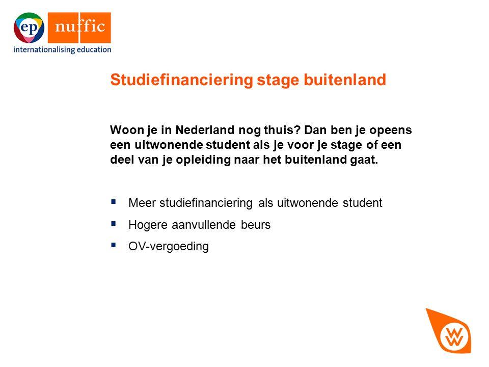 11 Woon je in Nederland nog thuis? Dan ben je opeens een uitwonende student als je voor je stage of een deel van je opleiding naar het buitenland gaat