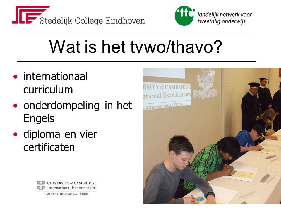 Wat is het tvwo/thavo? internationaal curriculum onderdompeling in het Engels diploma en vier certificaten