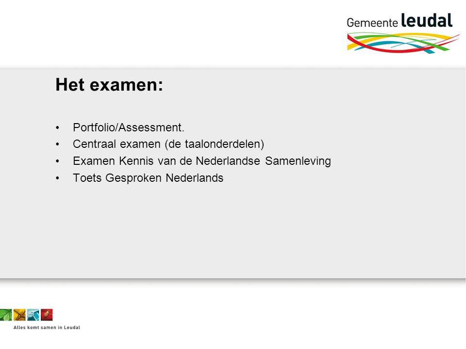Het examen: Portfolio/Assessment.