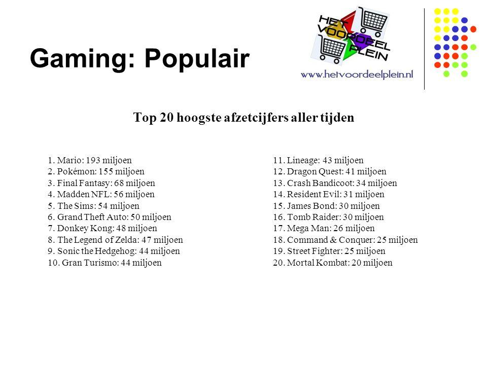 Gaming: Populair Top 20 hoogste afzetcijfers aller tijden 1.