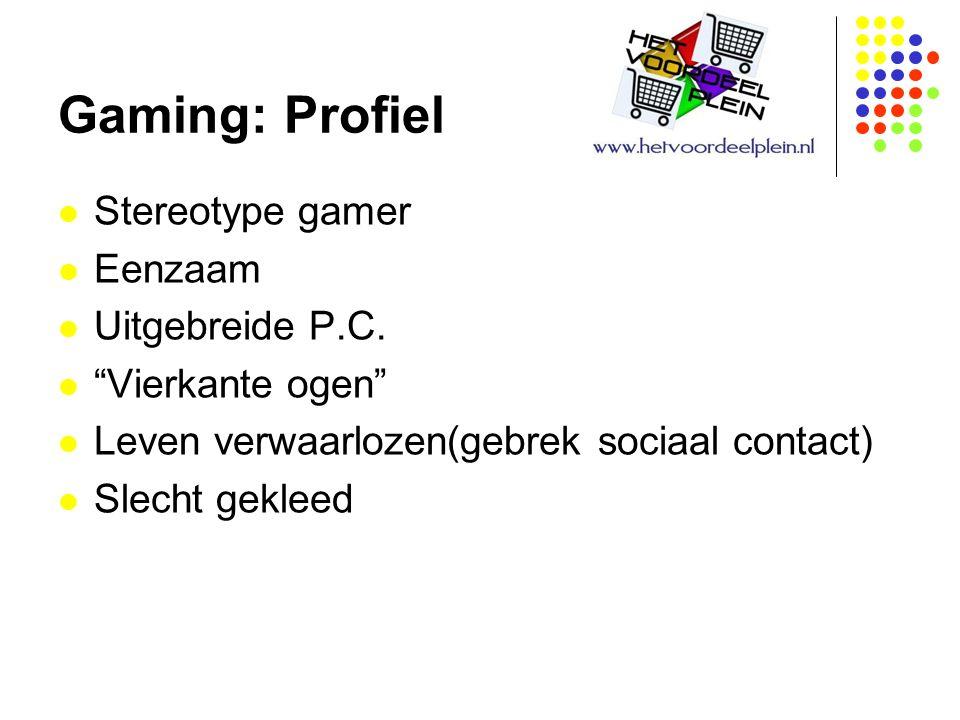 Gaming: Profiel Stereotype gamer Eenzaam Uitgebreide P.C.