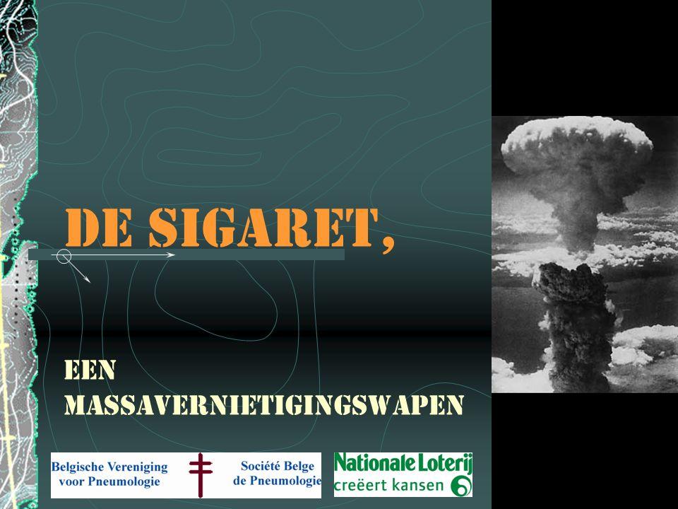 De stille dood 50% van de personen die roken sterven aan een ziekte die een gevolg is van dit roken.