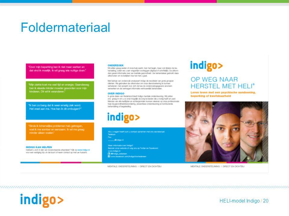 Foldermateriaal HELI-model Indigo / 20