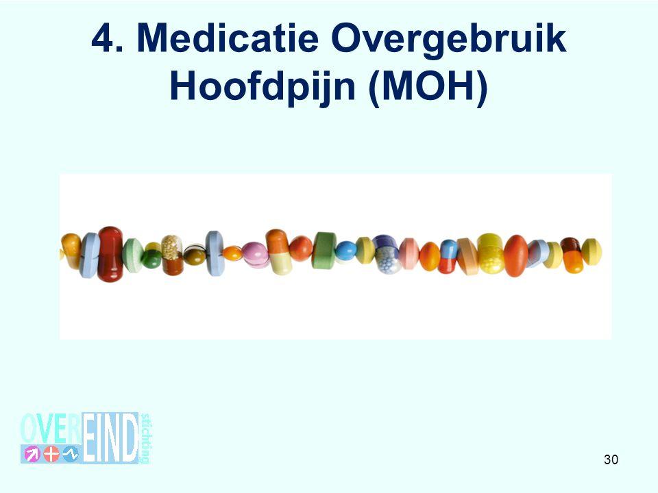 Definitie MOH Medicatieafhankelijke hoofdpijn komt niet voor zonder een onderliggende primaire hoofdpijn Oorzaak of gevolg.
