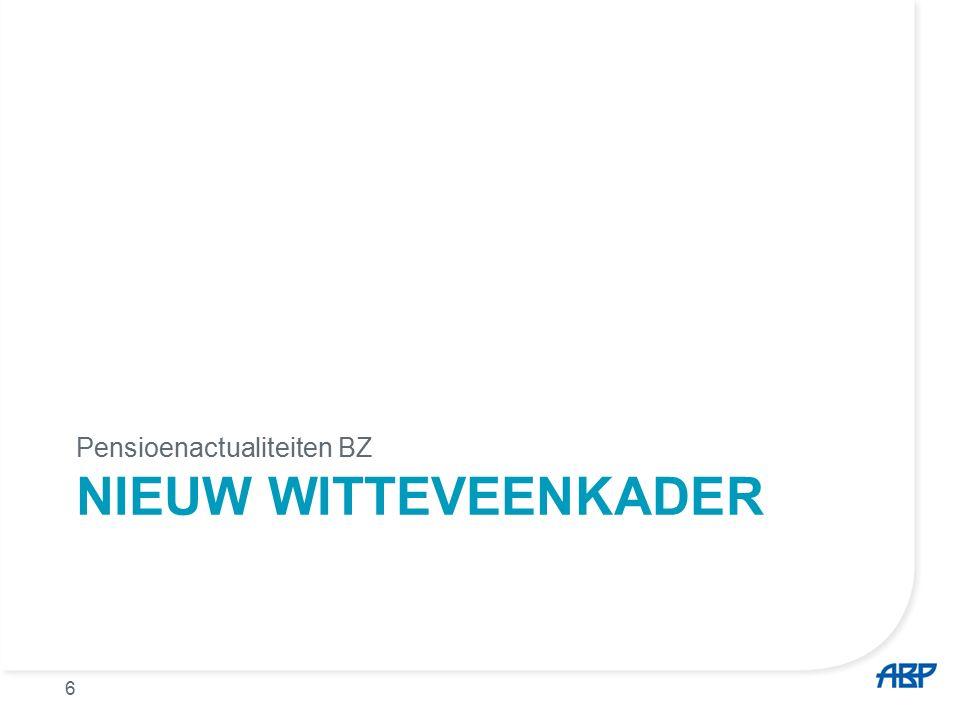 Nieuw fiscaal Witteveen kader Max.