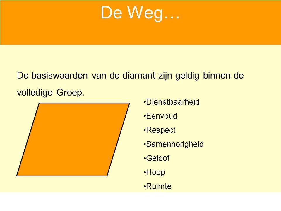 De Weg… De basiswaarden van de diamant zijn geldig binnen de volledige Groep.