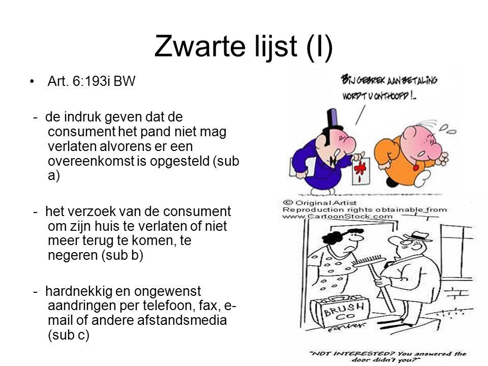 Zwarte lijst (I) Art.