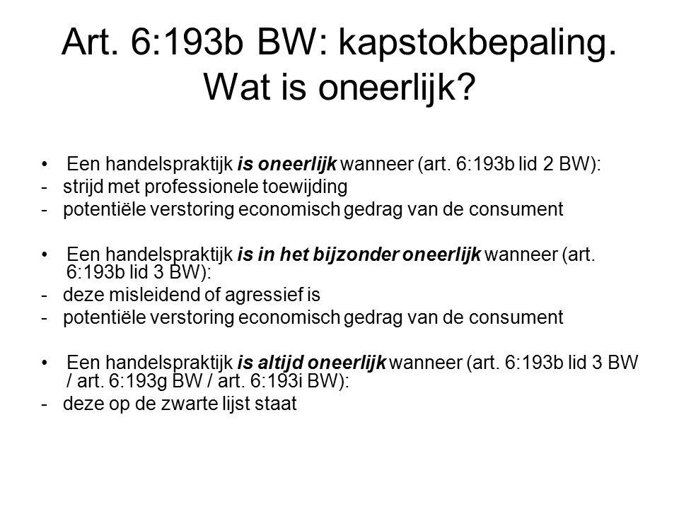 Art. 6:193b BW: kapstokbepaling. Wat is oneerlijk.