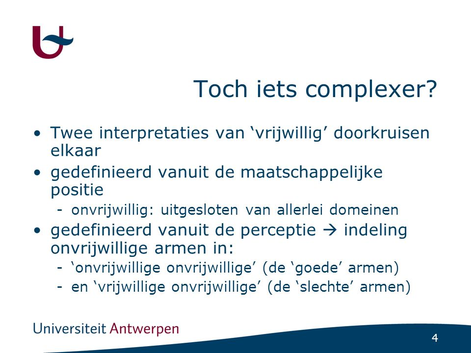 4 Toch iets complexer.