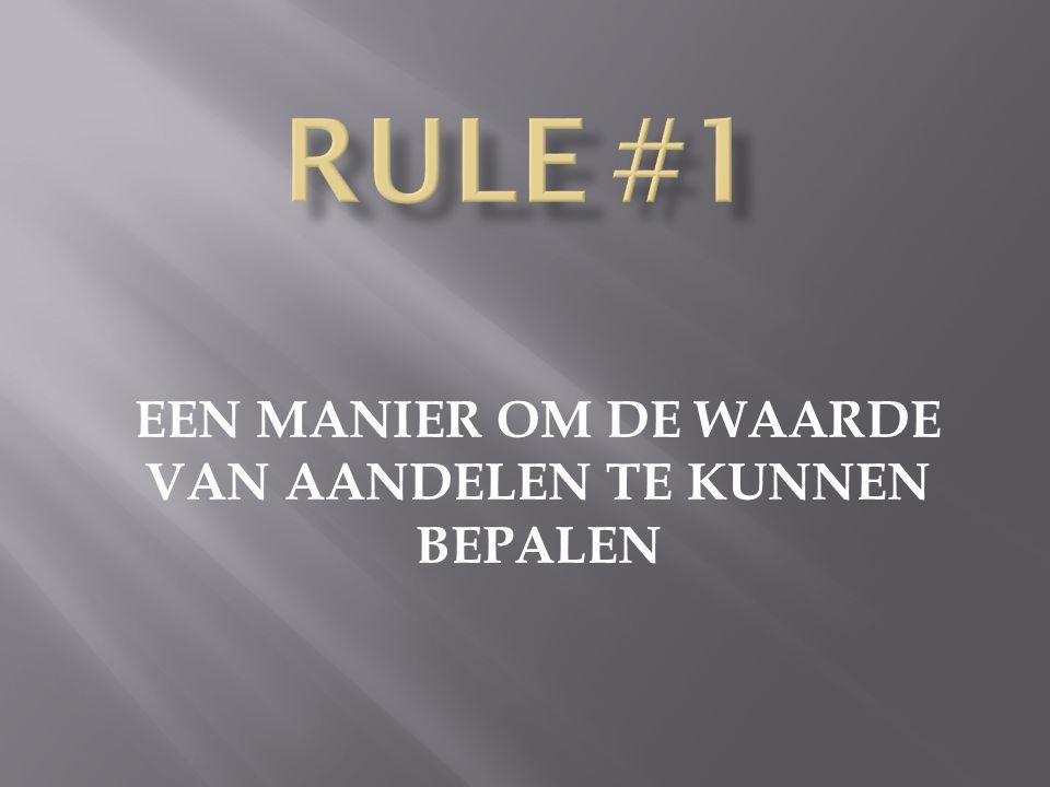 RULE 1: DON'T LOSE MONEY DON'T LOSE MONEY