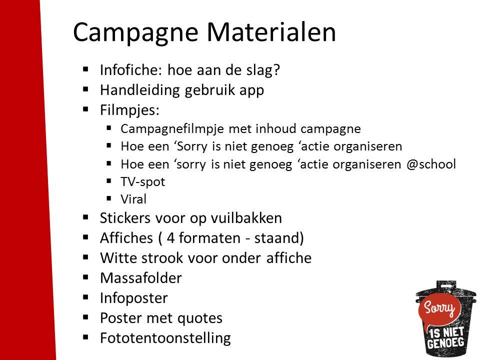 Campagne Materialen  Infofiche: hoe aan de slag.