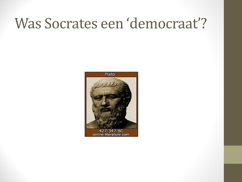 Was Socrates een 'democraat'