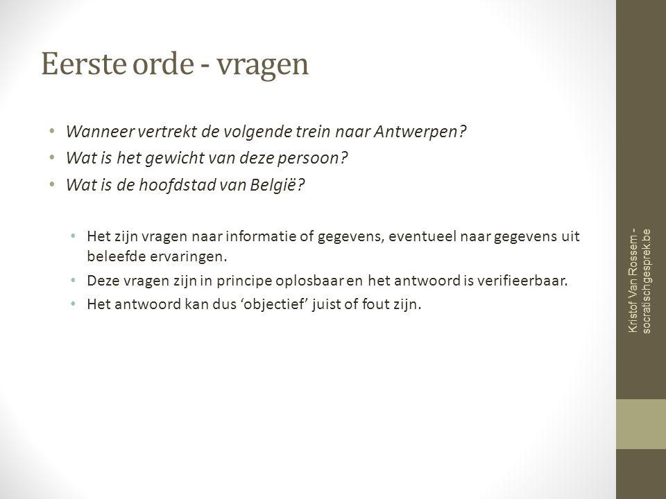 Eerste orde - vragen Wanneer vertrekt de volgende trein naar Antwerpen.