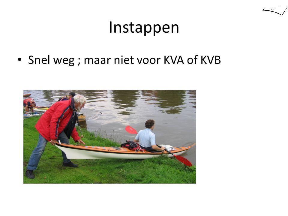 Instappen Snel weg ; maar niet voor KVA of KVB