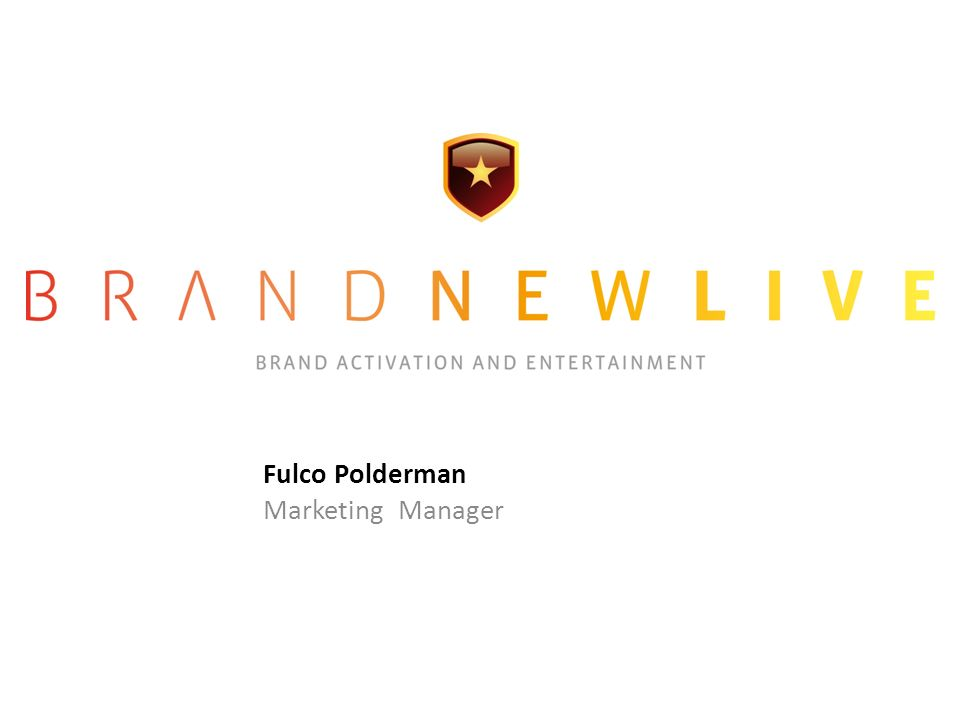 Fulco Polderman Marketing Manager
