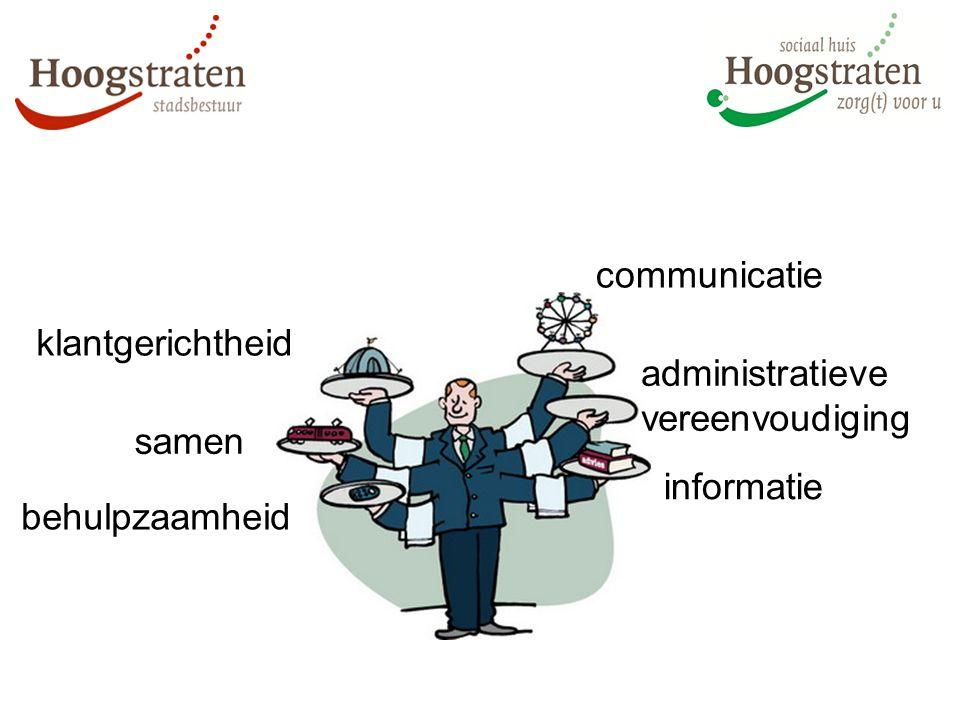 communicatie administratieve vereenvoudiging klantgerichtheid behulpzaamheid samen informatie