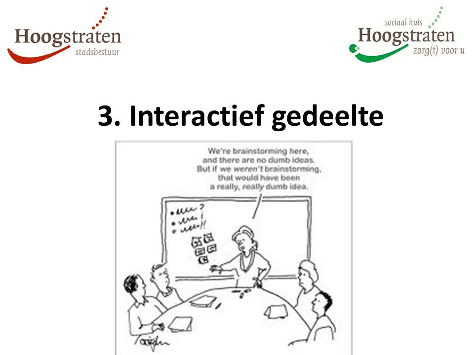 3. Interactief gedeelte