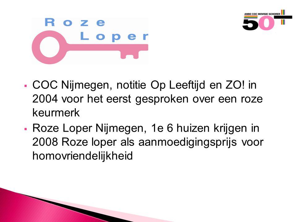  COC Nijmegen, notitie Op Leeftijd en ZO.