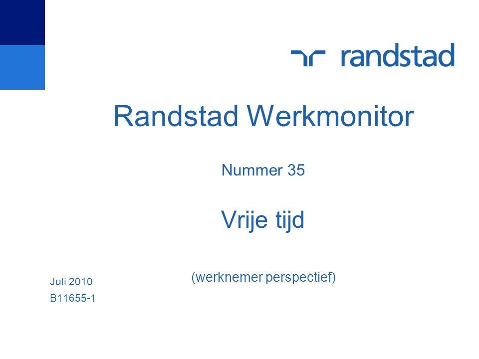 Randstad Werkmonitor Nummer 35 Vrije tijd (werknemer perspectief) Juli 2010 B11655-1
