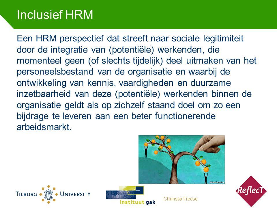 Een HRM perspectief dat streeft naar sociale legitimiteit door de integratie van (potentiële) werkenden, die momenteel geen (of slechts tijdelijk) deel uitmaken van het personeelsbestand van de organisatie en waarbij de ontwikkeling van kennis, vaardigheden en duurzame inzetbaarheid van deze (potentiële) werkenden binnen de organisatie geldt als op zichzelf staand doel om zo een bijdrage te leveren aan een beter functionerende arbeidsmarkt.