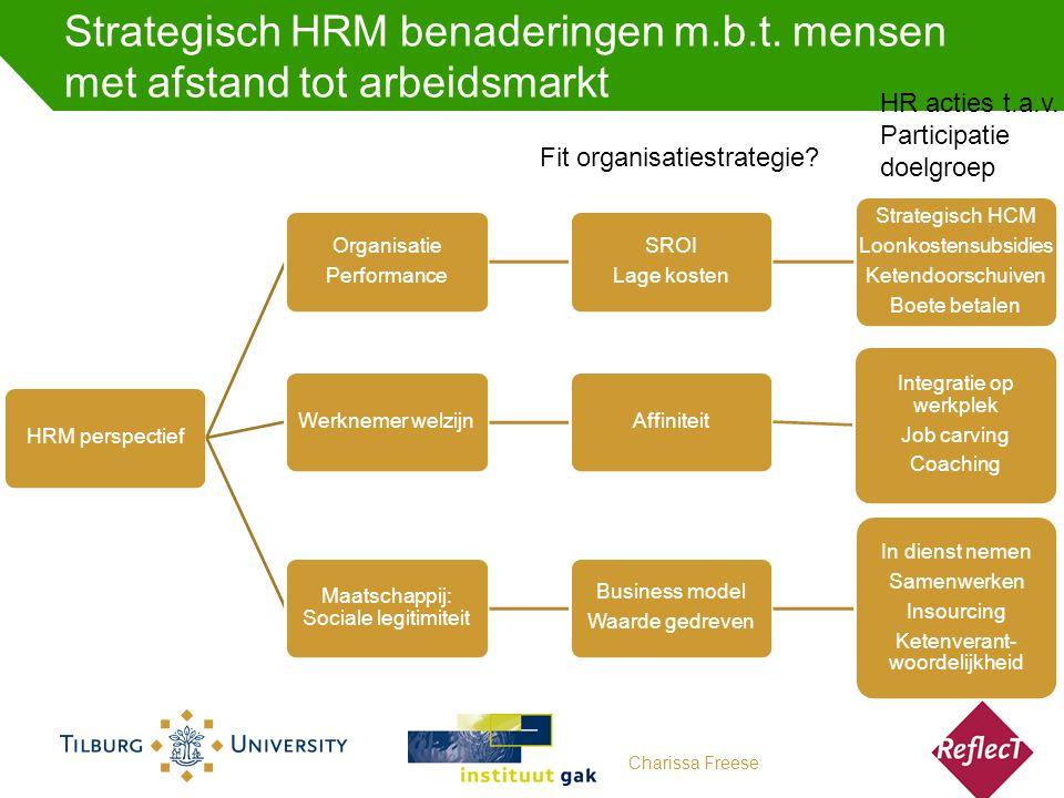 Strategisch HRM benaderingen m.b.t.
