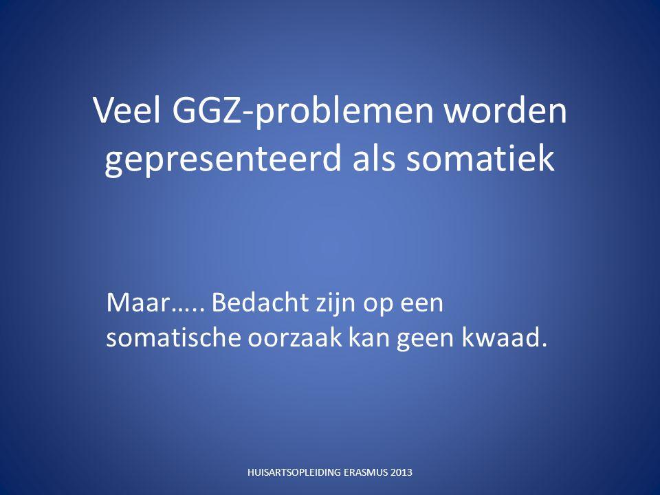 Veel GGZ-problemen worden gepresenteerd als somatiek Maar…..