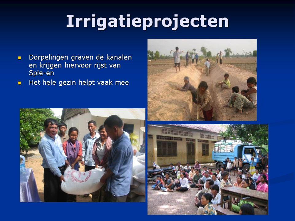 Irrigatieprojecten Dorpelingen graven de kanalen en krijgen hiervoor rijst van Spie-en Dorpelingen graven de kanalen en krijgen hiervoor rijst van Spi