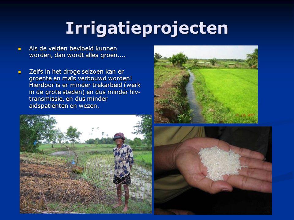 Irrigatieprojecten Als de velden bevloeid kunnen worden, dan wordt alles groen.... Als de velden bevloeid kunnen worden, dan wordt alles groen.... Zel
