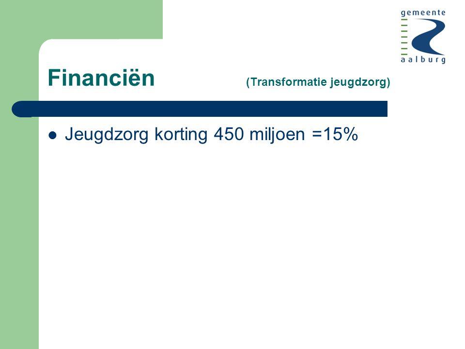 Financiën (Transformatie jeugdzorg) Jeugdzorg korting 450 miljoen =15%