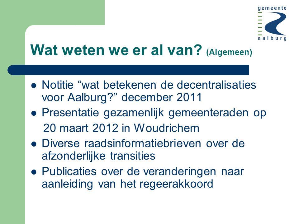 Wajong (Participatiewet) Wajongers tot 1-1-2014, geen verandering Vanaf 1-1-2014, uitsluitend voor duurzaam en volledig arbeidsongeschikten (1/3) De overige Wajongers naar Participatiewet (2/3)
