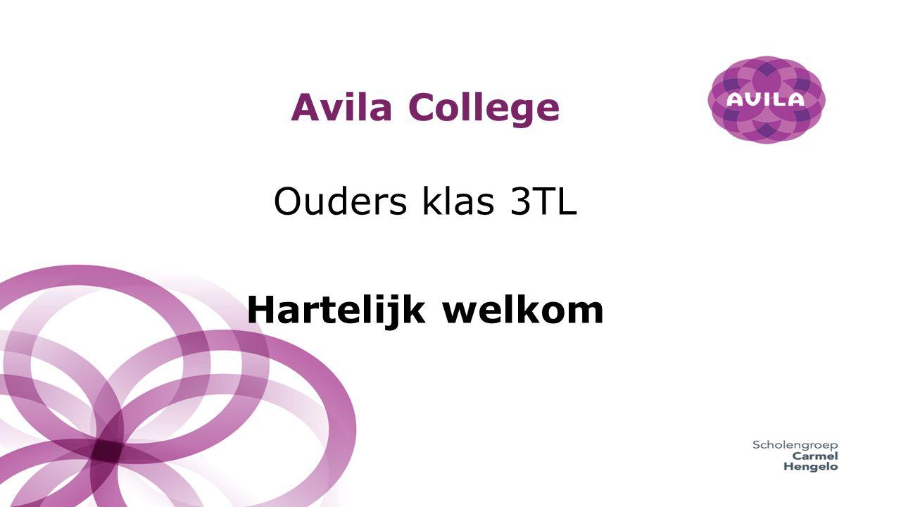 Avila College Ouders klas 3TL Hartelijk welkom