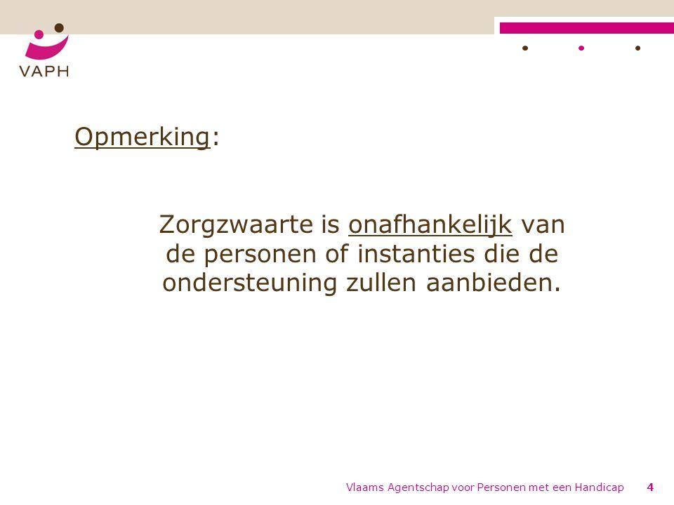 Vlaams Agentschap voor Personen met een Handicap25 Omschrijving Begeleidingsintensiteit B BOmschrijving B0Er is geen enkele vorm van ondersteuning nodig.