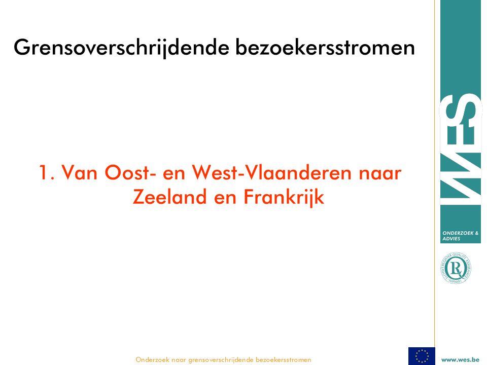  Onderzoek naar grensoverschrijdende bezoekersstromen Grensoverschrijdende bezoekersstromen 1.