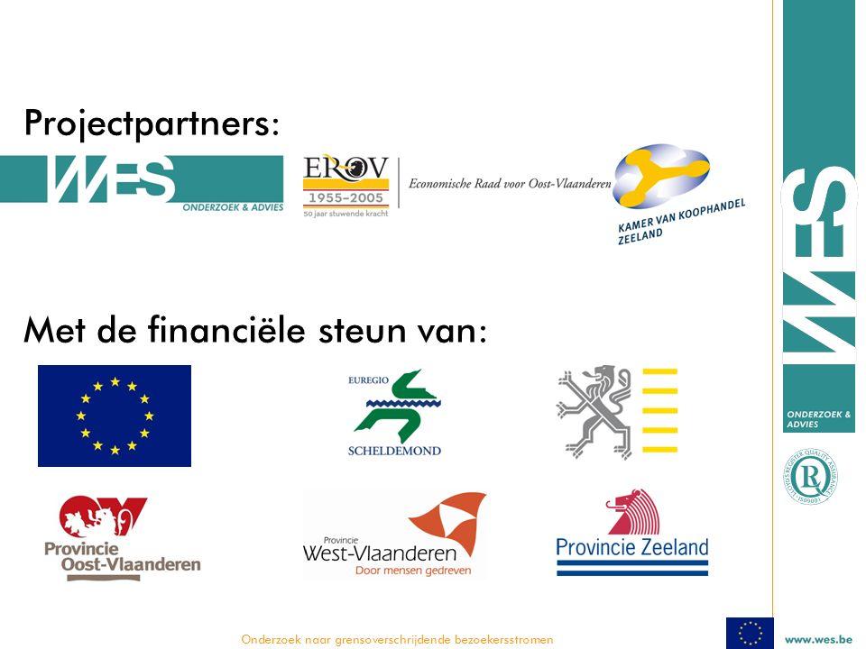  Onderzoek naar grensoverschrijdende bezoekersstromen Projectpartners: Met de financiële steun van:
