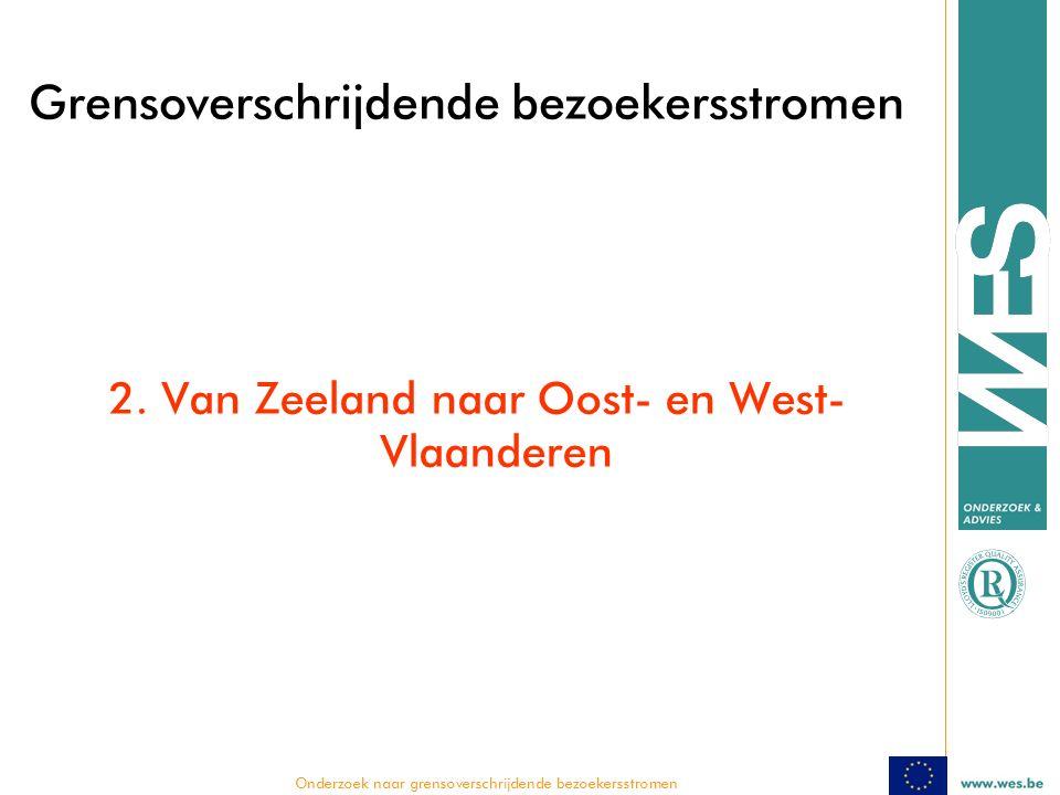  Onderzoek naar grensoverschrijdende bezoekersstromen Grensoverschrijdende bezoekersstromen 2.