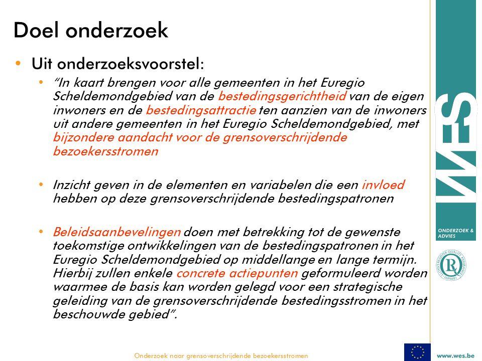  Onderzoek naar grensoverschrijdende bezoekersstromen Beoordeling Damme door Nederlandse dagtoerist (score op 5)