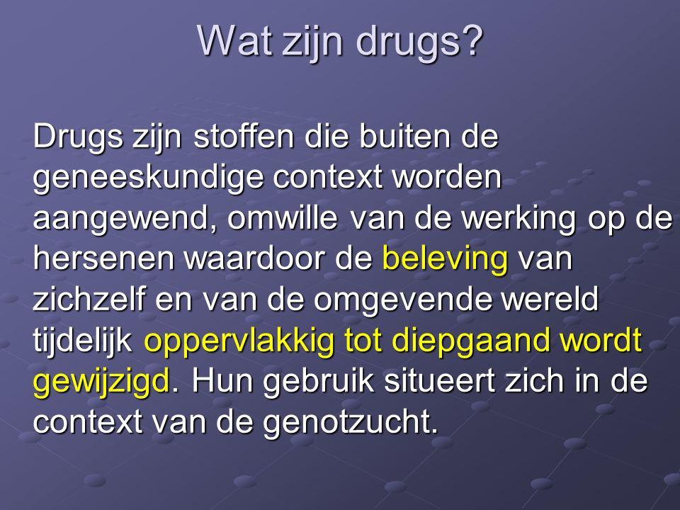 Wat zijn drugs.