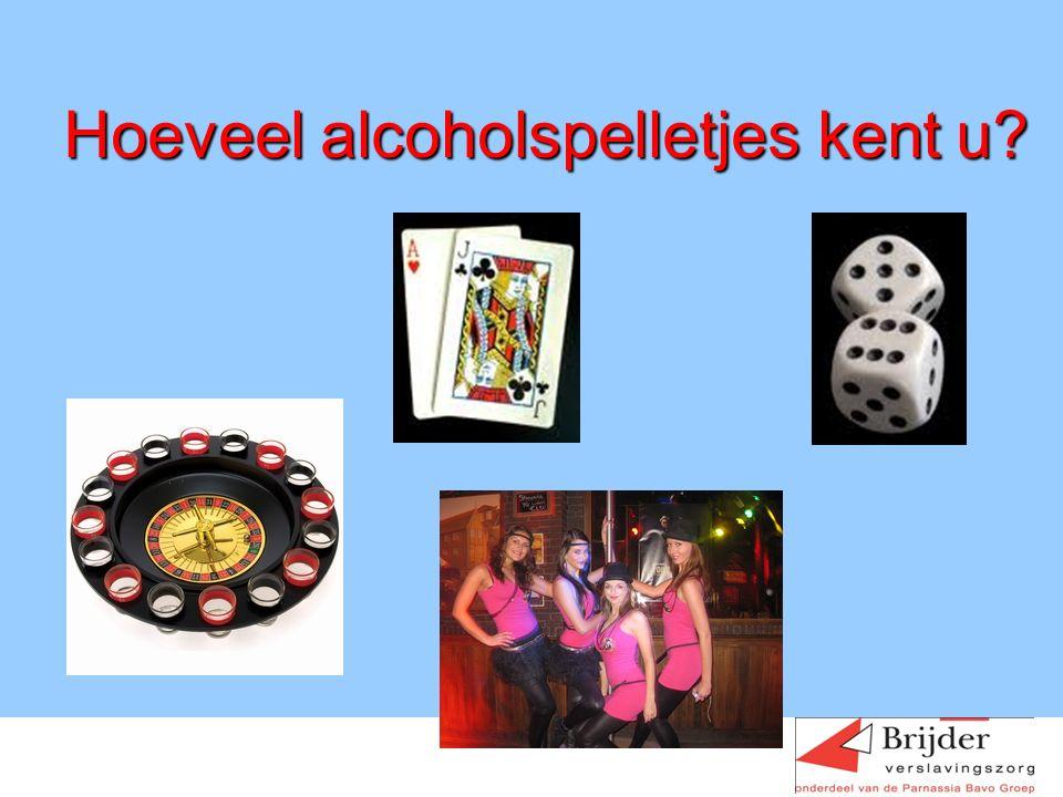 Hoeveel alcoholspelletjes kent u