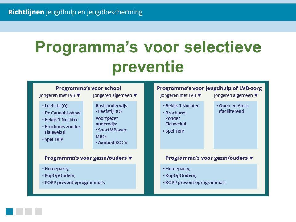 Programma's voor selectieve preventie
