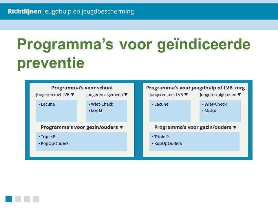Programma's voor geïndiceerde preventie