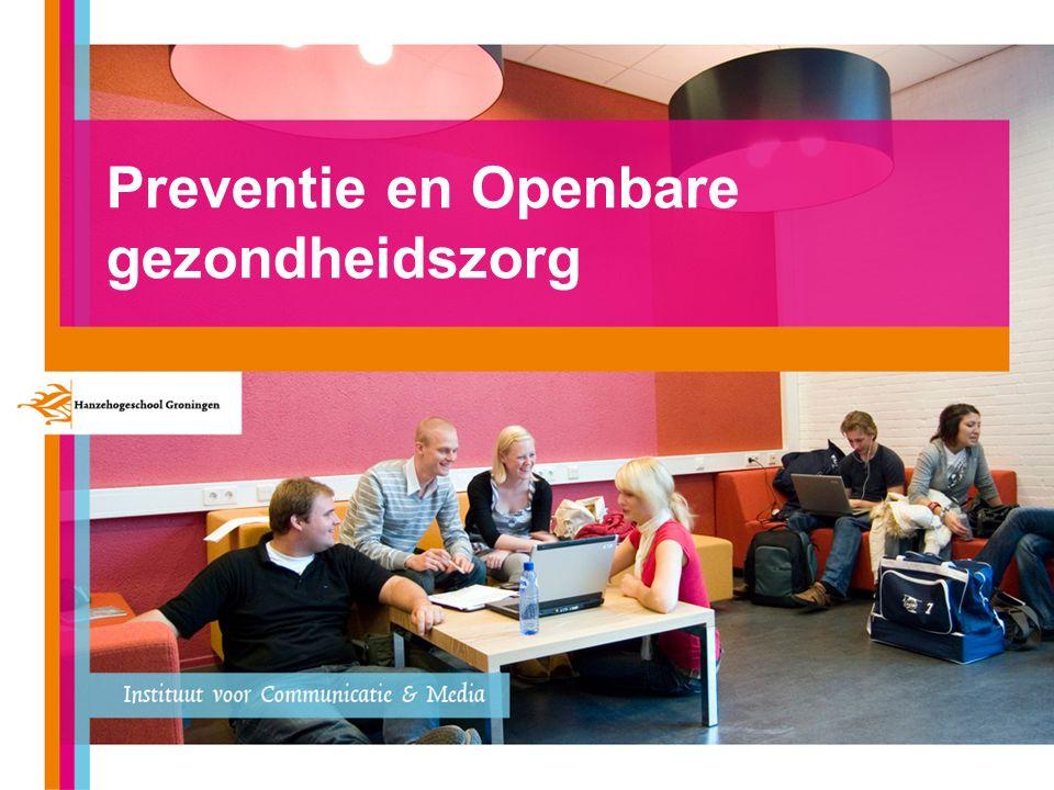 Preventie en openbare gezondheidszorg Voorkomen is beter dan genezen 4,3% zorgbudget i.t.t.