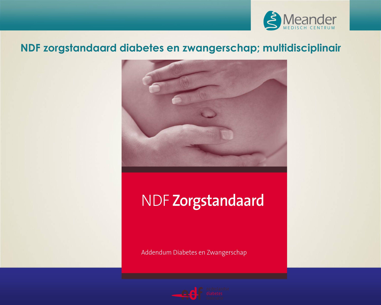 NDF zorgstandaard diabetes en zwangerschap; multidisciplinair
