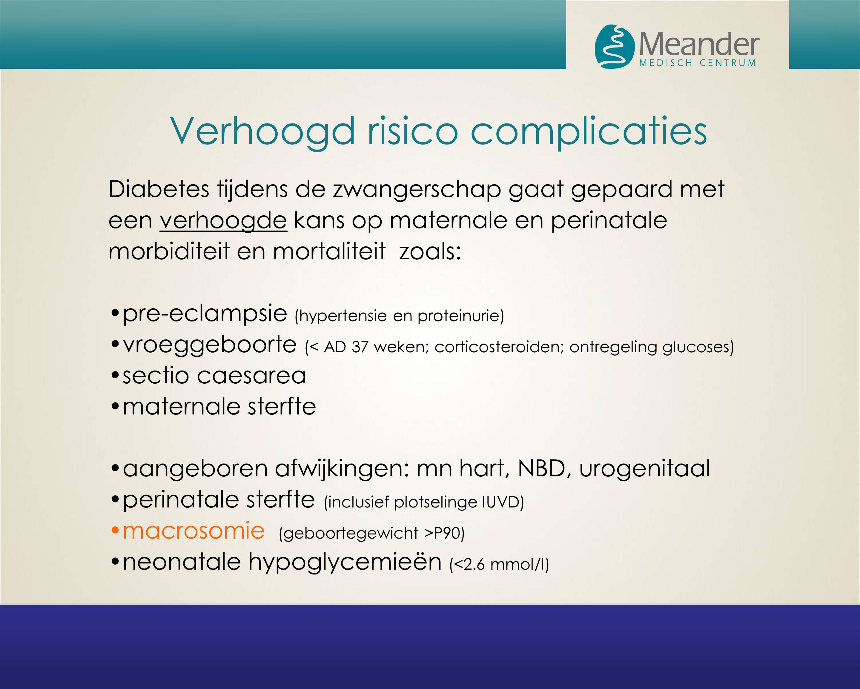 Vraag 1  Leidt hyperglycaemie tot een verhoogde kans op complicaties, zo ja tot welke complicaties.