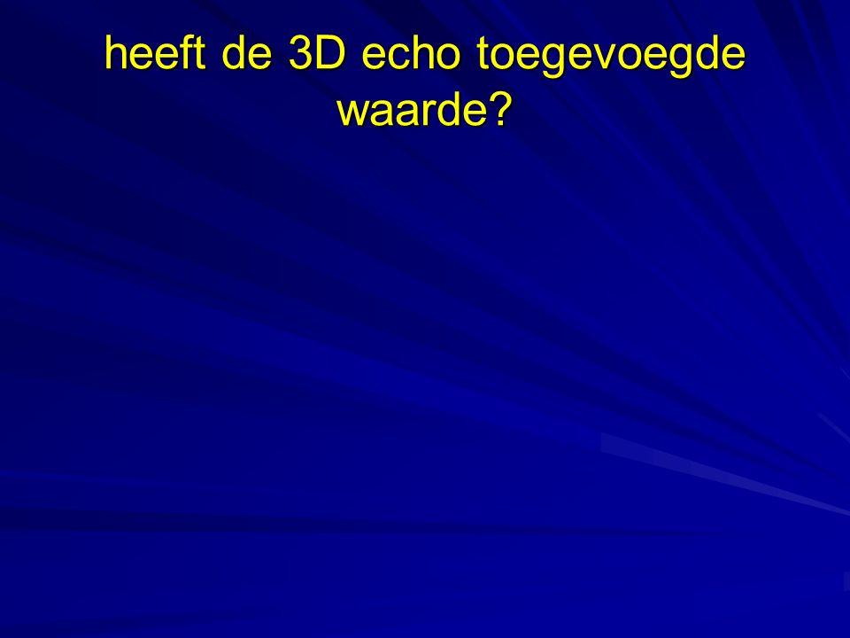 heeft de 3D echo toegevoegde waarde?
