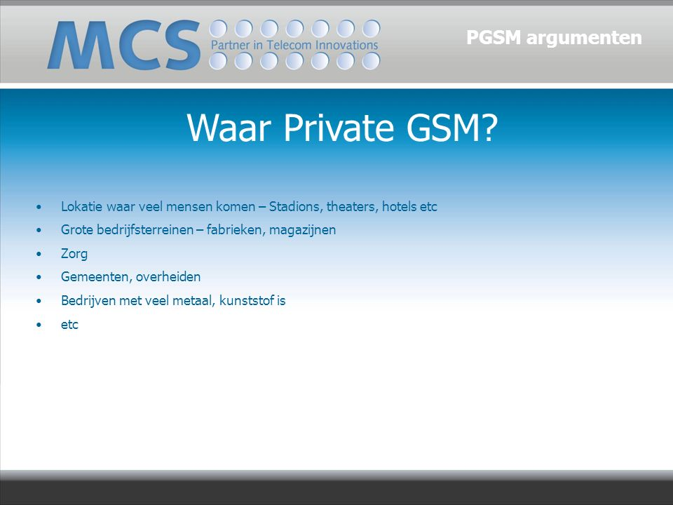 Waar Private GSM.