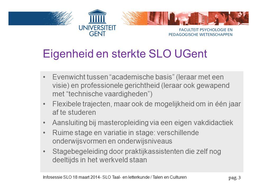 Belang van de SLO Infosessie SLO 18 maart 2014- SLO Taal- en letterkunde / Talen en Culturen pag.