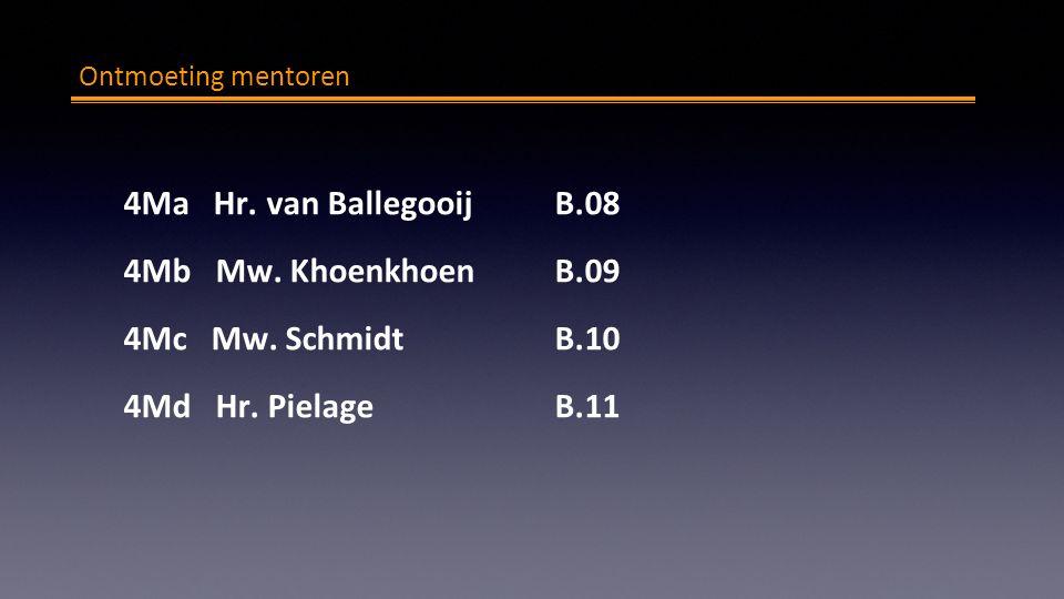Ontmoeting mentoren 4Ma Hr. van BallegooijB.08 4Mb Mw.
