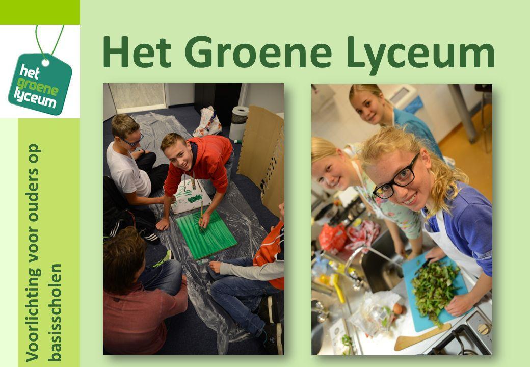 Voorlichting voor ouders op basisscholen Het Groene Lyceum Bedankt voor uw aandacht!
