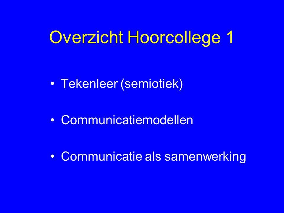 Communicatie als proces Communicatie is een proces waarbij door middel van tekens informatie wordt overgedragen let op: Oomkes (2000: 20-21) gebruikt de term 'symbolische' informatie; dit is verwarrend, zoals we zullen zien